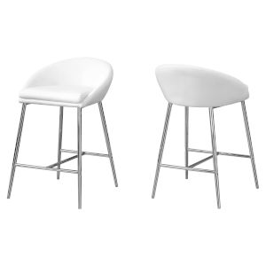 Abbott White 30-Inch Bar Stool, Set of 2