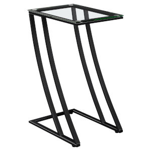 Abbott Black 16-Inch Side Table