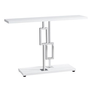Abbott Glossy White 12-Inch Console Table