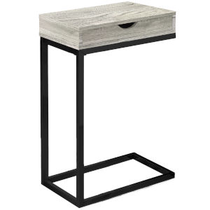 Adair Gray and Black 10-Inch End Table
