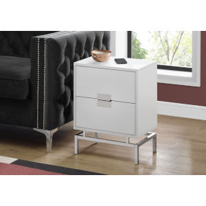 Abbott White 13-Inch End Table