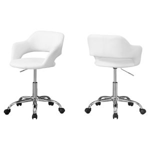 Abbott White 29-Inch Office Chair