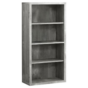 Abercrombie Gray 48-Inch Bookcase with Adjustable Shelves