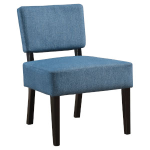 Abbott Blue 32-Inch Armless Chair