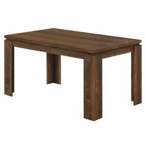 Brown Reclaimed Wood Rectangular Dining Table