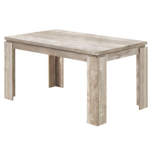 Taupe Reclaimed Wood 36 x 60 Inch Rectangular Dining Table