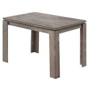 Dark Taupe Rectangular Dining Table