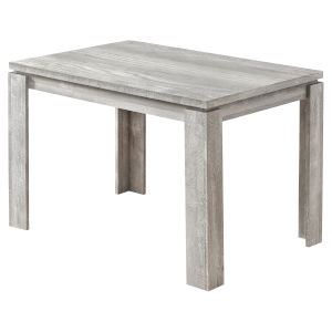Gray Reclaimed Wood 32 x 48 Inch Rectangular Dining Table