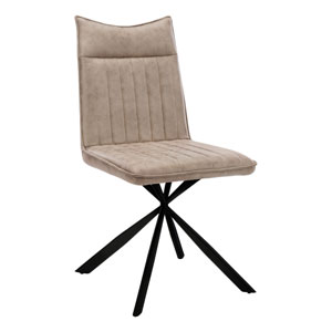 Taupe and Black Dining Chair, Set of 2