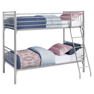 Silver Rectangular Twin Bunk Bed