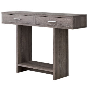 Dark Taupe Rectangular Accent Table with Drawer