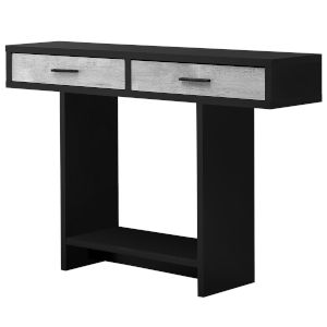Black and Gray Reclaimed Wood Rectangular Accent Table