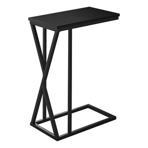 Black Rectangle End Table