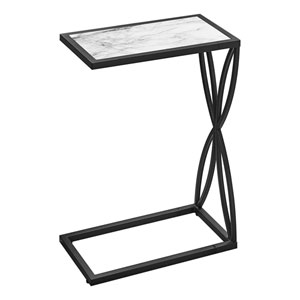 White and Black End Table