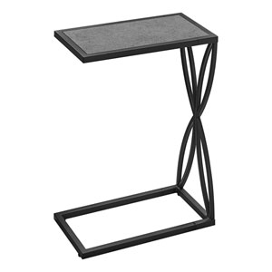 Gray and Black End Table