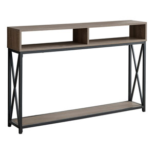 Dark Taupe 47-Inch Console Table