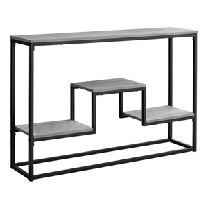 Gray and Black Console Table