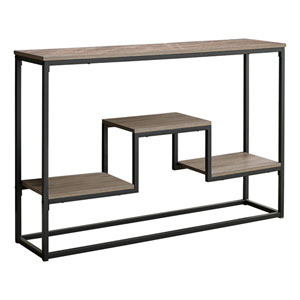 Taupe and Black Console Table