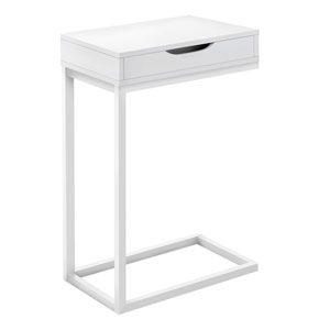 White 16-Inch C Table