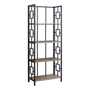 Dark Taupe 25-Inch Bookshelf