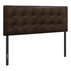 Brown and Black Full Size Headboard