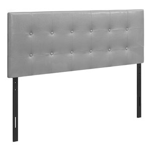 Gray and Black Leather-Look Full Size Headboard
