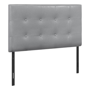 Gray and Black Twin Headboard