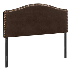 Dark Brown and Black Queen Headboard
