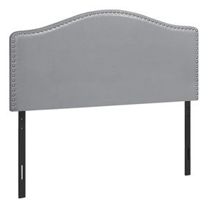 Gray and Black Full Size Headboard