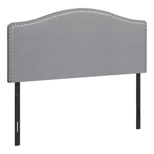 Gray and Black Queen Headboard