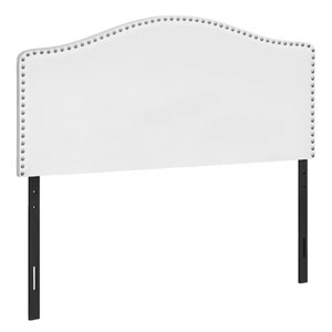 White and Black Full Size Headboard