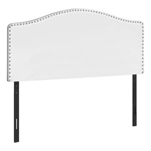 White and Black Queen Headboard