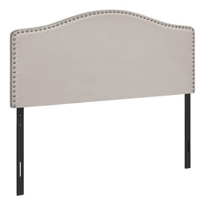 Beige and Black Full Size Headboard