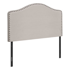 Beige and Black Twin Headboard