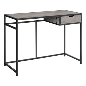 Dark Gray and Black Computer Desk