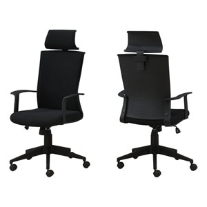 Black 24-Inch Fabric High Back Executive Office Chair