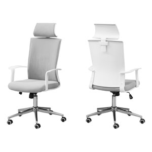 White 24-Inch Office Chair