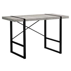 Gray 49-Inch Computer Desk