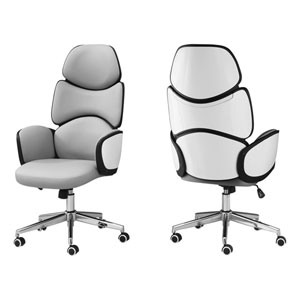 White 25-Inch Office Chair