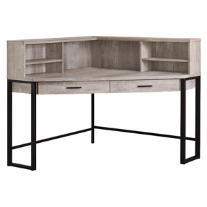 Taupe 48-Inch Computer Desk