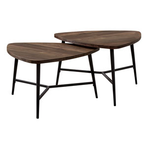 Brown and Black Nesting Table, Set of 2