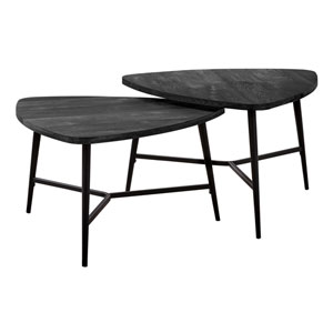 Black Nesting Table, Set of 2
