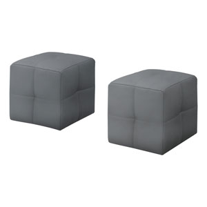 Gray Ottoman, Set of 2