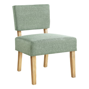 Light Green and Natural Armless Chair
