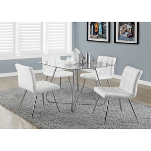 White 32-Inch Dining Chair Set of 2