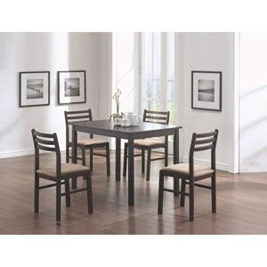 Dining Set - 5 Piece Set / Cappuccino Veneer