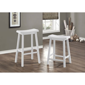 White 24-Inch Barstool Set of 2
