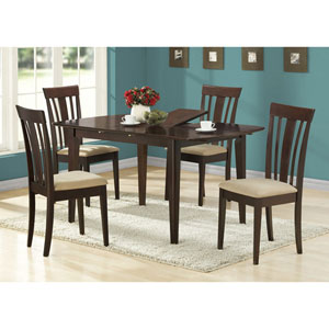 Dining Chair - 2 Piece / 38H / Cappuccino with Micro-Fiber