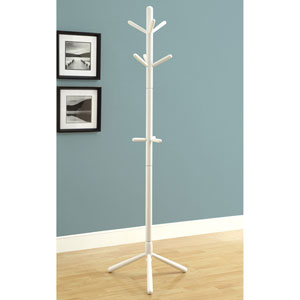 Coat Rack - 69H / White Wood Contemporary Style