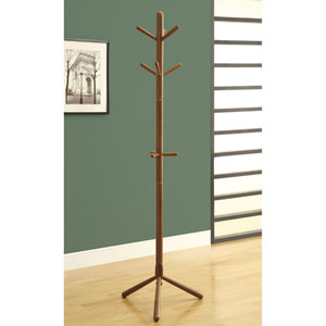 Coat Rack - 69H / Oak Wood Contemporary Style